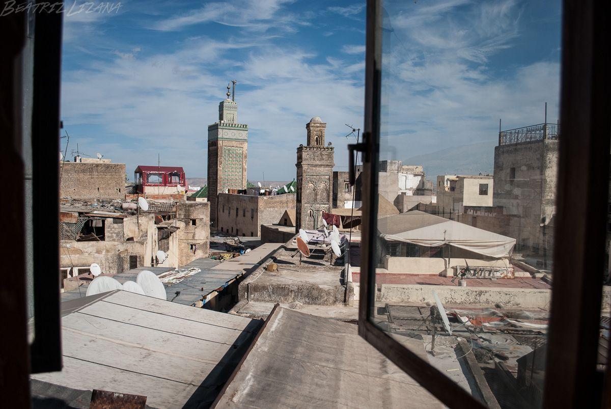 vista de Fez desde una ventana